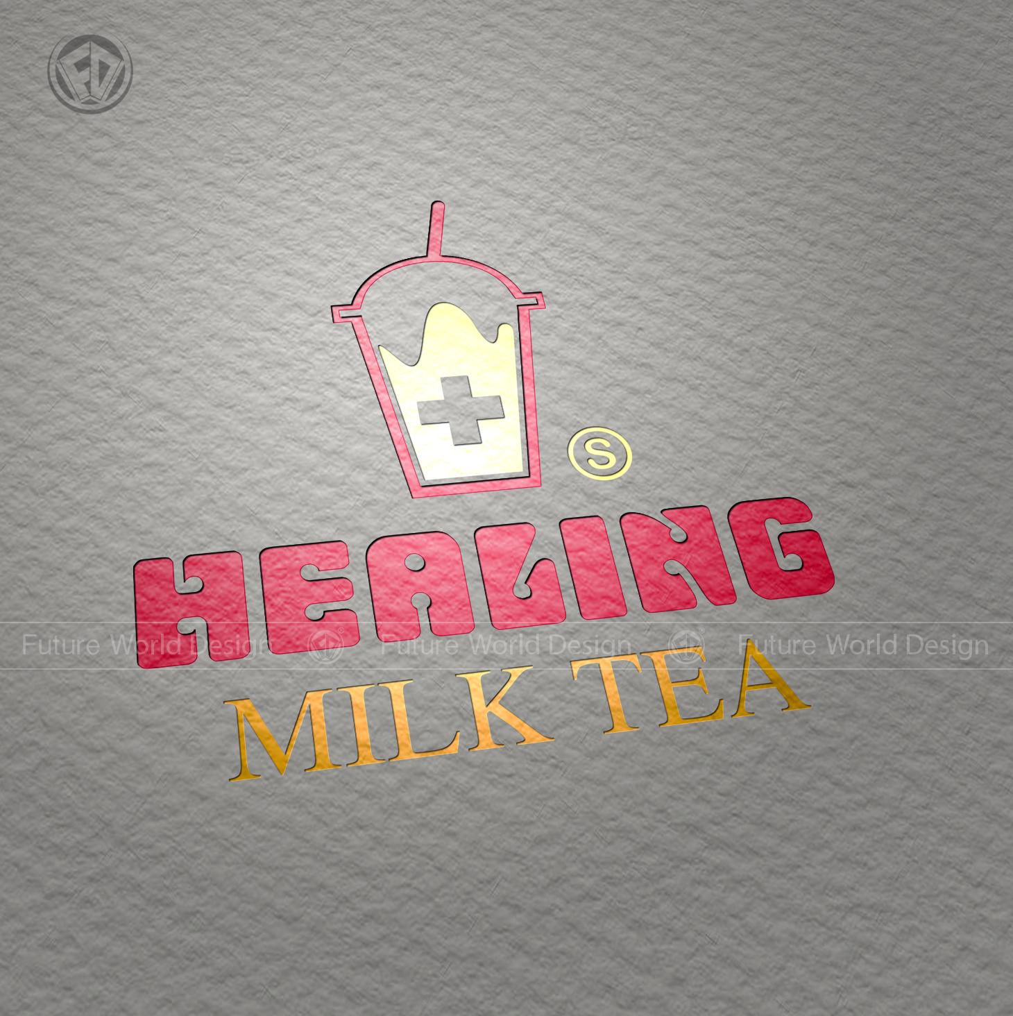 Healing Milk Tea - Logo Thiết Kế TPHCM