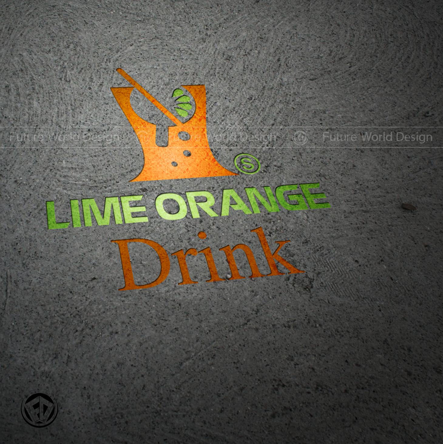 Lime Orange Drink - Logo Thiết Kế Online Toàn Quốc